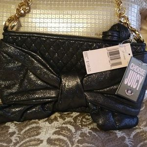 Black shimmer Juicy Couture pocketbook